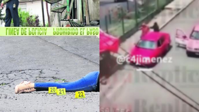 Revelan video del asesinato de una mujer con su bebé en brazos en Tlalpan