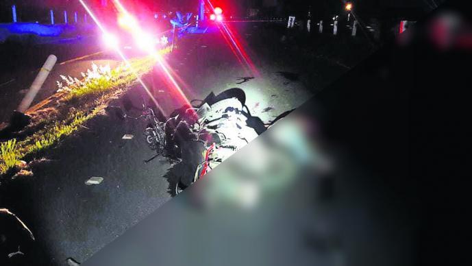 Hombre muerto Motociclista volador Morelos