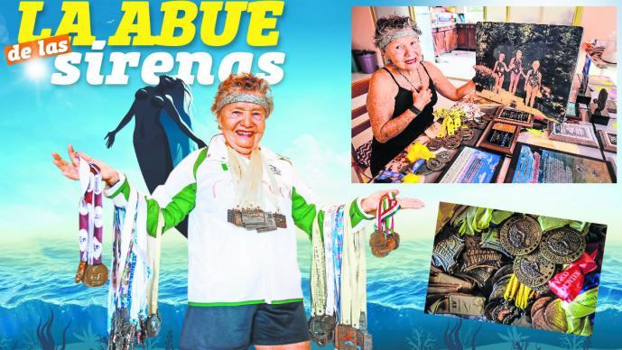 nadadora mexicana campeona medallas premios internacionales maria wells 82 años abuelita