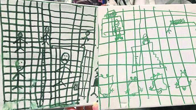 Muestran niños indocumentados su realidad en dibujos