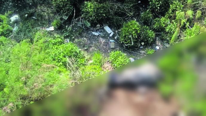 Abandonan cadáver Basurero Maniatado Embolsado Edomex Nezahualcóyotl