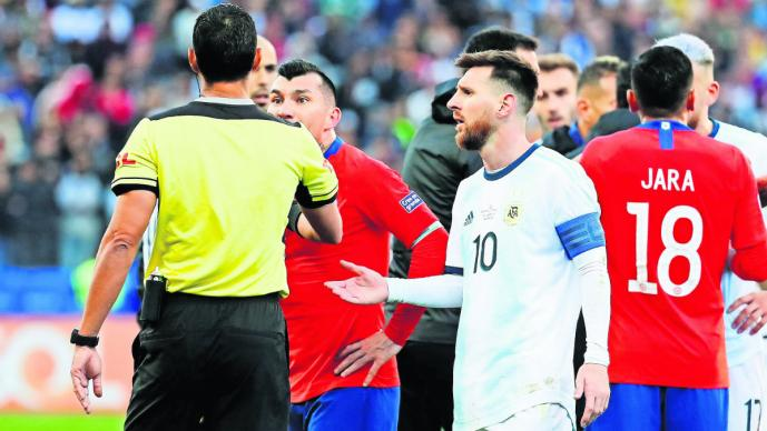 argentina chile tercer lugar pleito expulsan Lionel Messi partido copa américa