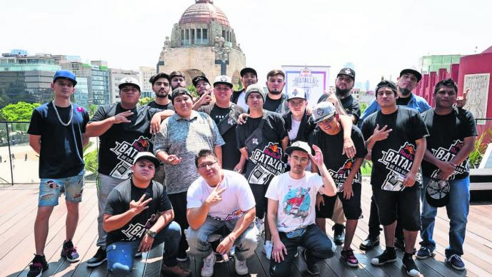 batalla gallos freestyle rap terraza monumento a la revolución red bull evento