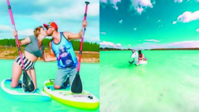 Convierten lago toxico paraíso turístico