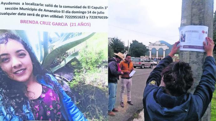 joven mujer chava desaparece tomó un taxi no regresó a casa casos desaparición Brenda búsqueda mandó mensaje toluca-Valle de Bravo Amanalco
