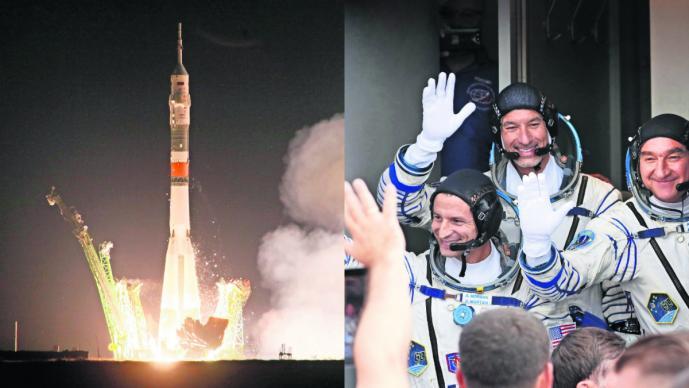 nave espacial rusa despega homenaje apolo 11 aniversario 50 años
