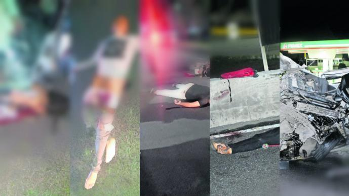 accidente edomex mexico puebla asalto combi volcadura