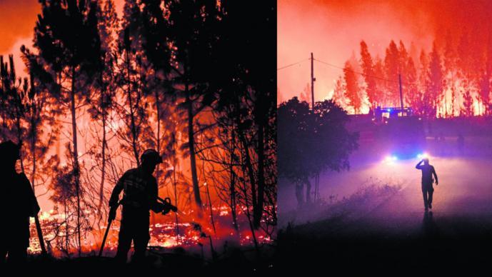 Incendio Portugal Lisboa Policía Judicial heridos quemados desastre