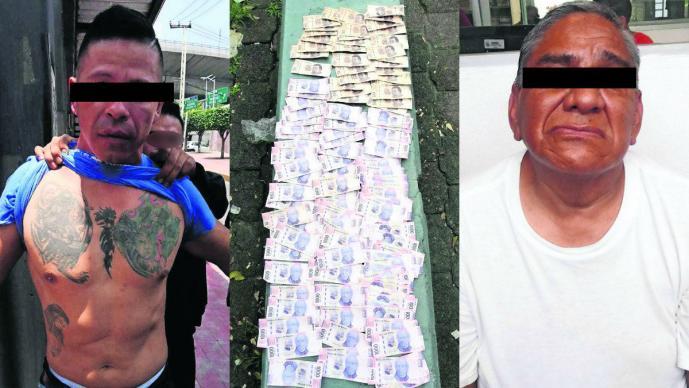 asaltantes cuentahabientes detenidos roban dinero miles de pesos detenidos narvarte