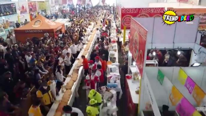 TORTA MAS GRANDE DEL MUNDO CDMX