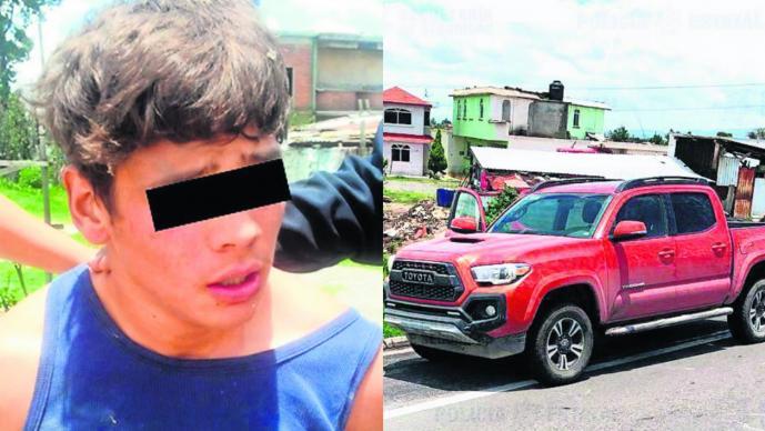 Balacera tres asaltantes roban camioneta persecución