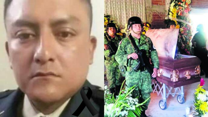Primer soldado caído Guardia Nacional Carlos Anastasio Bustamante