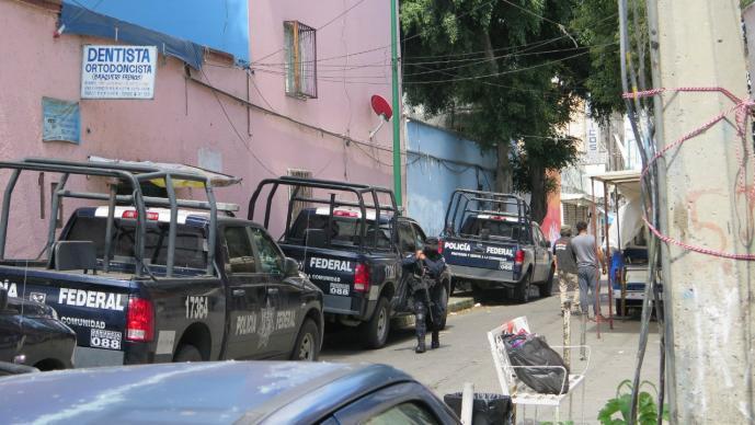 ALCALDIA CUAUHTEMOC CDMX BALAZO POLICIA