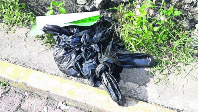 restos humanos destazado narcomensaje bolsas de basura vecinos se topan cadáver cuerpo ejecutado coatlán del río
