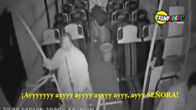 chofer grita señora fantasma camion final de ruta videos virales