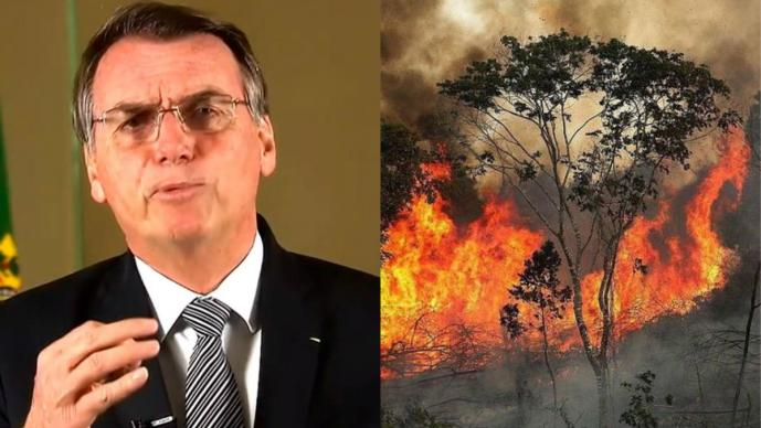 jair bolsonaro presidente brasil condiciona ayuda g7 incendios amazonas amazonia