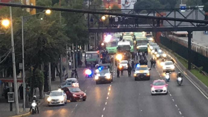 el grafico noticias marcha transportistas aumento tarifa cdmx marcha zocalo