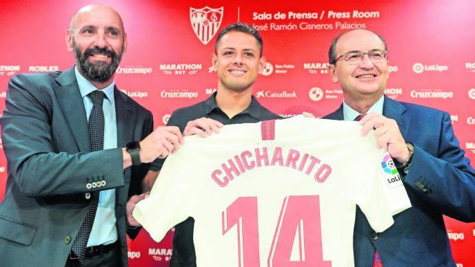 javier chicharito hernández se bajó el sueldo sevilla fichaje futbol español