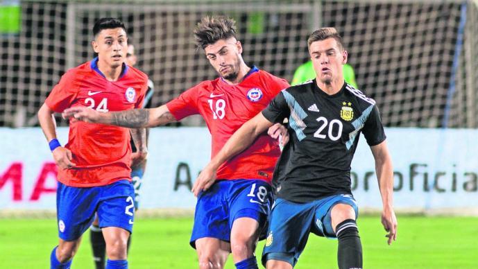 Lucas Ocampos, baja por lesión en la gira de la Selección Argentina