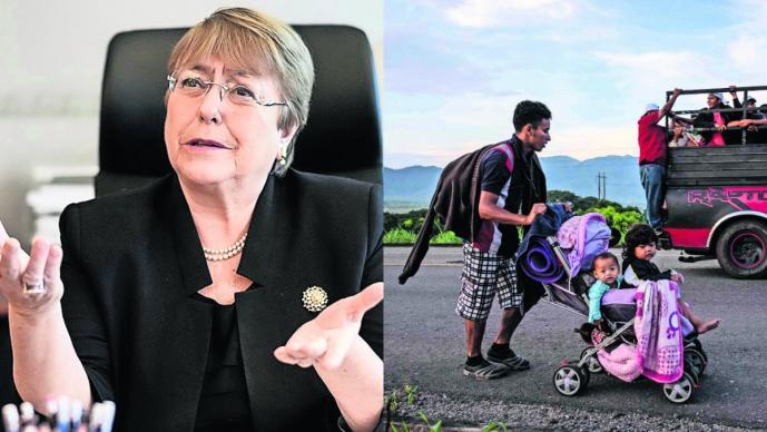 Michelle Bachelet critica política migratoria de AMLO