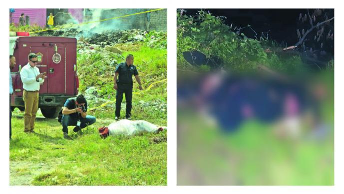 hombre calcinado otro plastificado Ecatepec homicidio