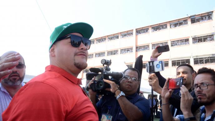 Andy Ruiz visitó penal de Topo Chico