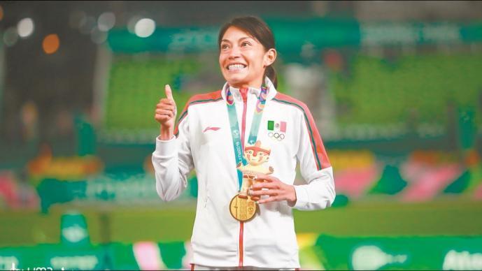 Le roban apoyo del gobierno a la medallista Laura Galván