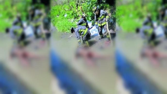 cadáver putrefacto podrido canal la cañada alvaro obregón muerto cdmx