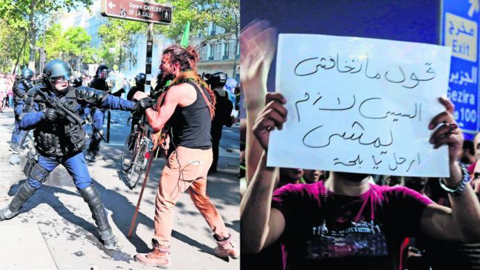 manifestaciones inconformes violencia enfrentamiento policías autoridades el cairo parís francia egipto