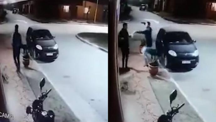 video asaltante reconoce amigo se abrazan argentina