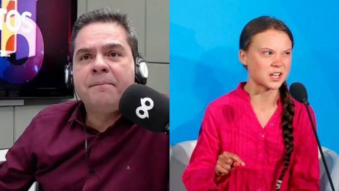 Despiden a locutor brasileño por insultar a Greta Thunberg