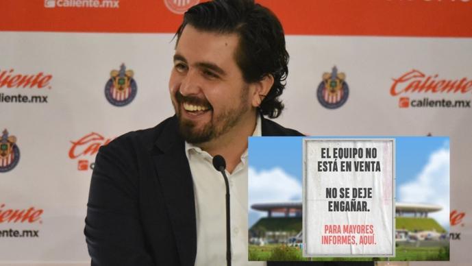 Amaury Vergara negó que Chivas está en venta