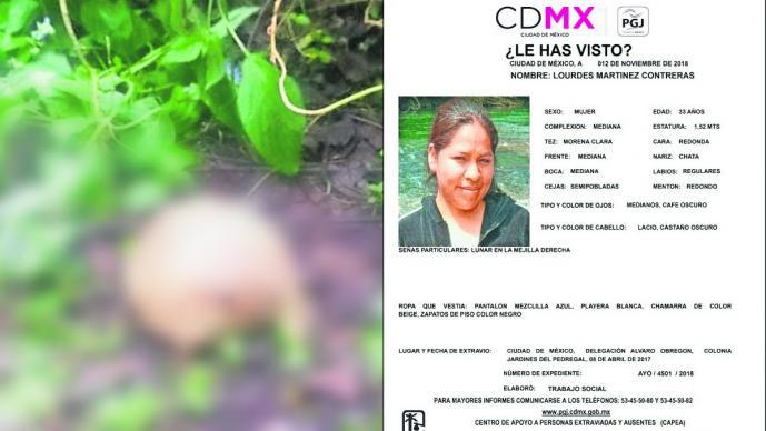 encuentran cráneo osamenta humana podría ser mujer desaparecida 2017 tlálpan cdmx méxico
