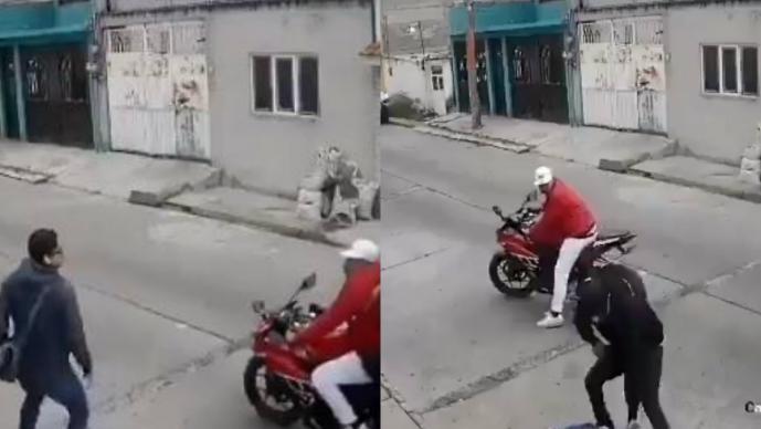 Delincuentes motocicleta Ecatepec