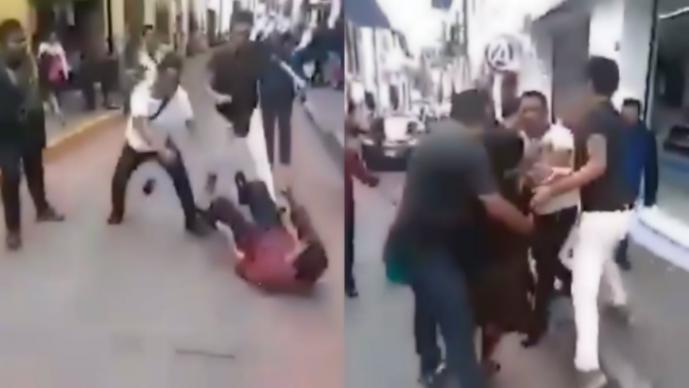 Funcionarios golpean indígenas Puebla