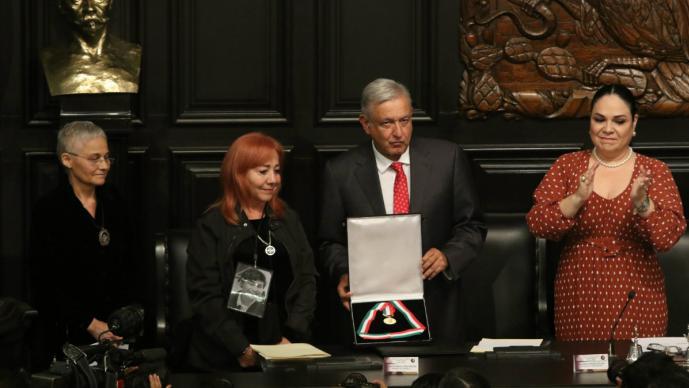 Medalla Belisario Domínguez Rosario Ibarra