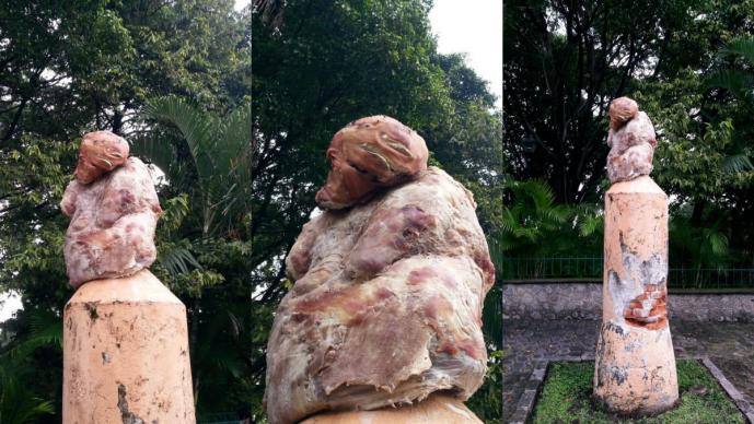escultura de carne morelos horror terror espanto violencia