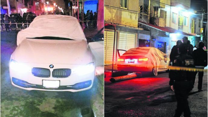 ejecutados baleados dentro auto BMW deuda nezahualcóyotl
