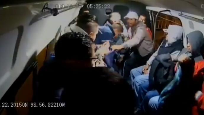 cámaras captan video de asalto en edomex texcoco