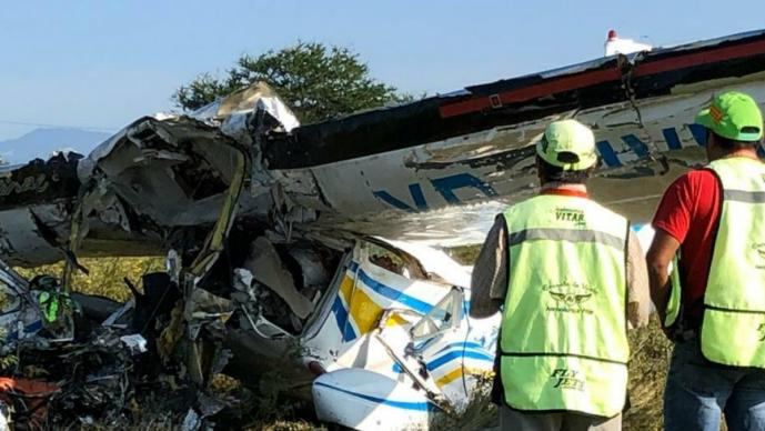 avioneta, accidente, morelos, escuela