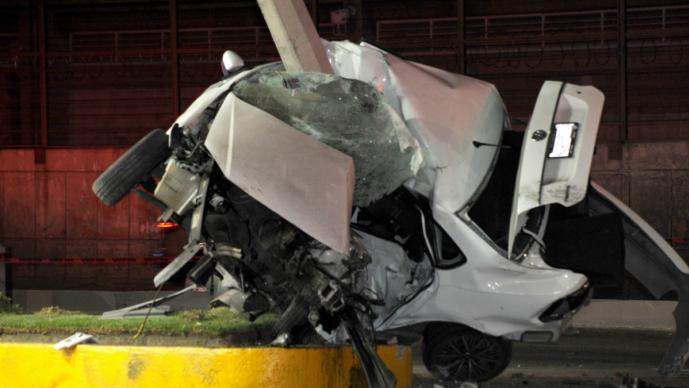 Conductor prensado Ecatepec accidente