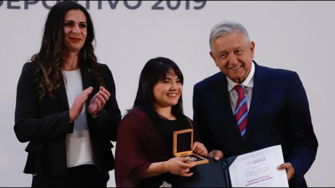 Alexa Moreno-Premio Nacional de Deportes