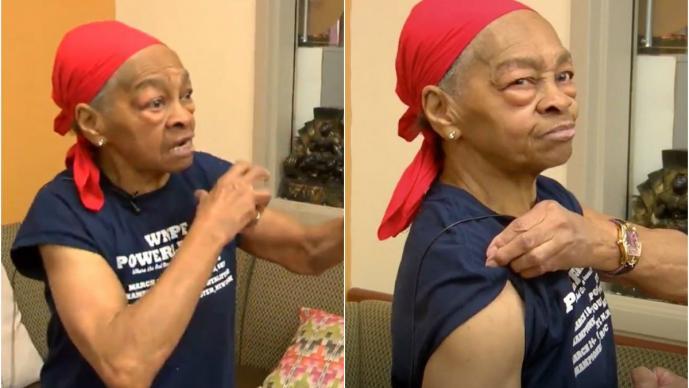 mujer tercera edad 82 años fisicoculturista golpiza paliza ladrón robar en su casa Nueva York