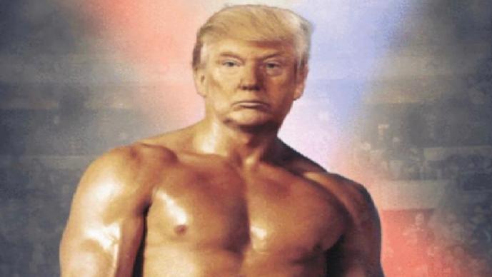 Donald Trump boxeador foto photoshop presidente estados unidos