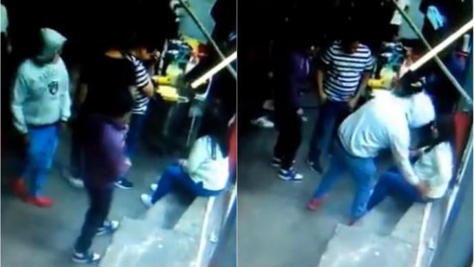 ladrones asaltantes roban clientes doña pelos vendedora de quesadillas puesto garnachas video