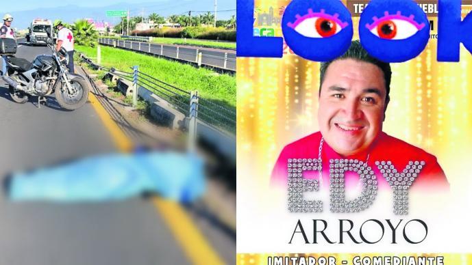 Muere atropellado en Morelos 'Edy Arroyo', comediante e imitador mexicano