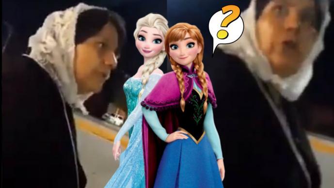 señora mujer disney es el diablo las frozen son lesbianas unicornio homosexual video viral