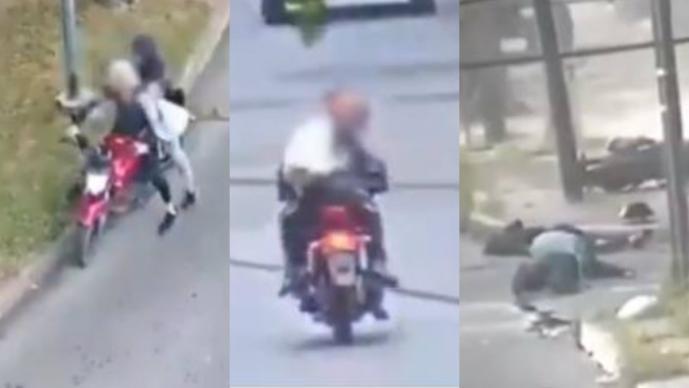 ladrones roban motocicleta karma instantáneo chocan patrulla muerto muere ladrón buenos aires argentina