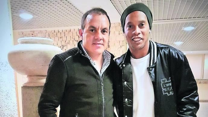 Confirman partido con causa entre amigos de Cuauhtémoc Blanco y Ronaldinho, en Morelos