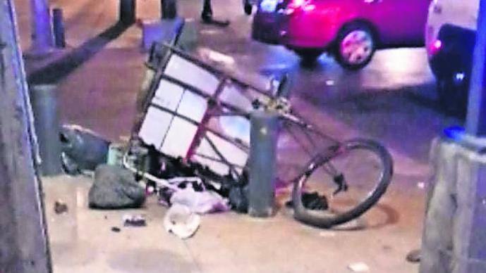 Automovilista atropella a niño que vendía café en su triciclo, en Venustiano Carranza